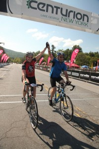 Harold and Sara Strope finish the Centurion NY 25 mile race